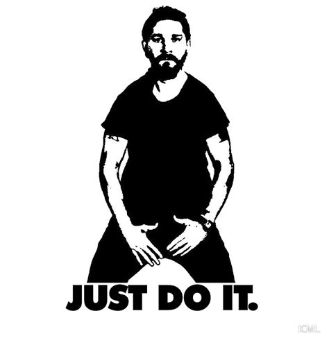 Gildan Just Doit 1 quot shia labeouf just do it quot canvas prints by icml redbubble