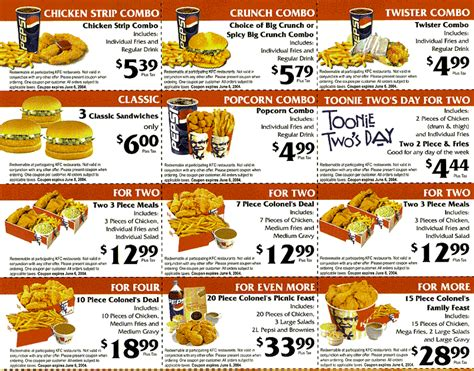 latest printable grocery coupons kfc coupons specials coupon codes blog