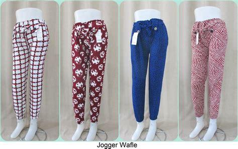 Celana Jogger Katun Murah Minimal Order 3pcs pusat grosiran celana jogger wafle murah tanah abang rp28 000