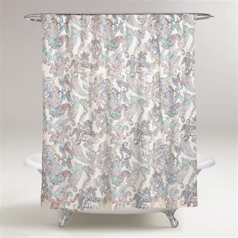 shower curtain paisley multicolor paisley shower curtain world market