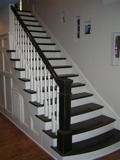 black staircase stairs white and black stairs and flooring pinterest