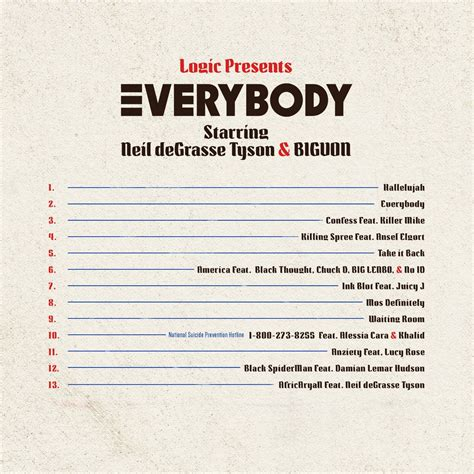 song list logic s quot everybody quot album tracklist unveiled brand new