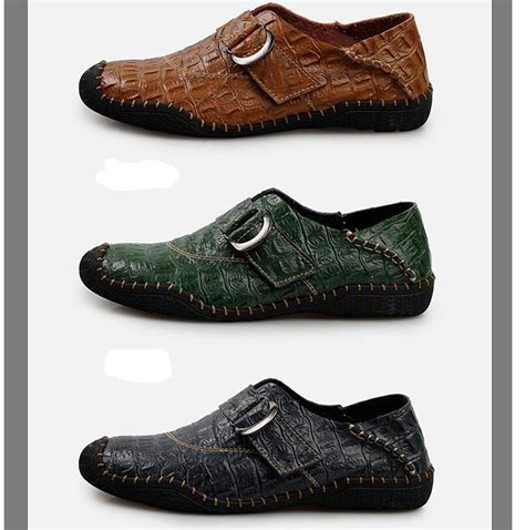 brand new crocodile leather shoes moccasins shoes