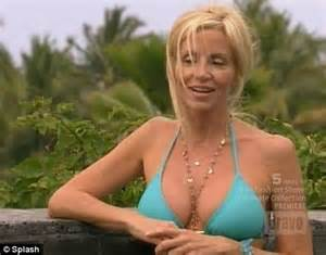 kelsey grammer's ex camille strips to bikini on the real