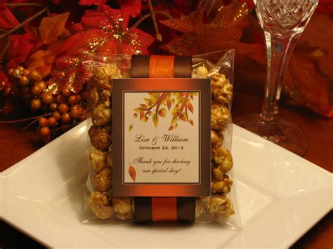 Fall Wedding Favors by Autumn Fall Caramel Corn Popcorn Wedding Favors By