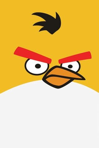 Angry Bird Yellow Iphone 6 7 5 Xiaomi Redmi Note F1s Oppo S6 Vivo angry bird yellow iphone wallpaper and ipod touch