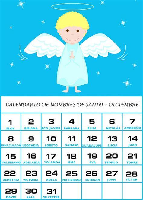 Calendario Kudai Calendario De Nombres De Santo Diciembre