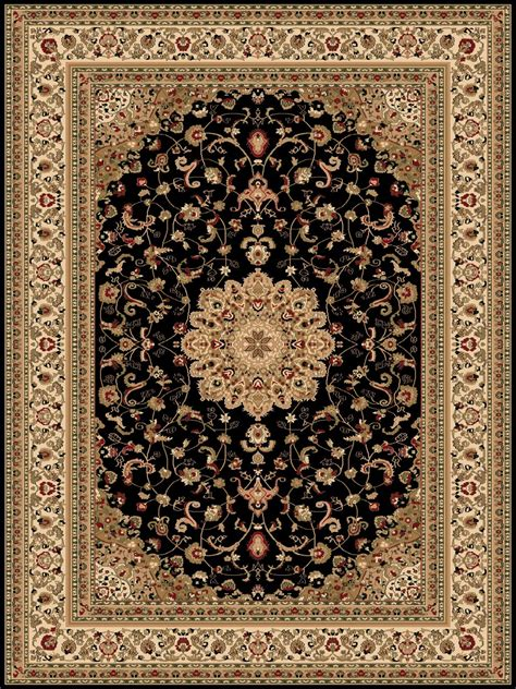 Classic Rug by Turkish Rugs Belkis 725 Classic Black Rug Turkish