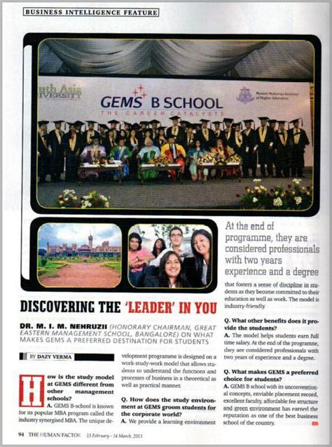 Mba In Gems B School by Top Mba Colleges In Bangalore Mba Cost In Bangalore Mba