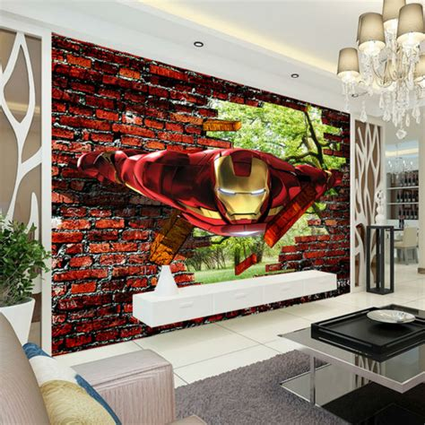 wall murals for boys aliexpress buy 3d iron wallpaper photo