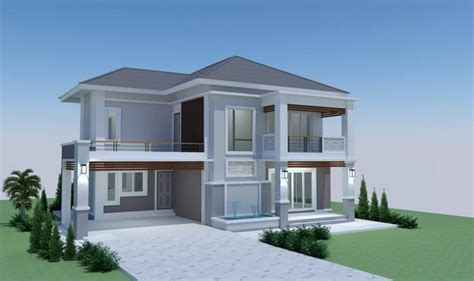 modern 4 bedroom house two storey modern tropical 4 bedroom house decorated with