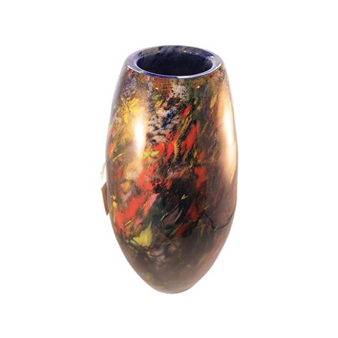 monet impressionist glass vase by adam jablonski
