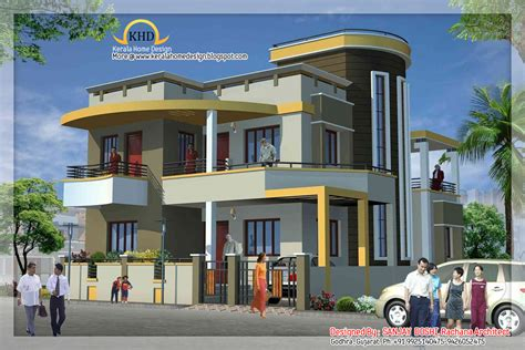 1 Story Home Plans by Duplex House Elevation Indian Home Decor