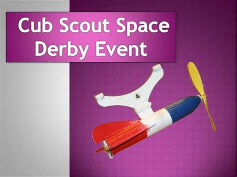 cub scout powerpoint template cub scout space derby event authorstream