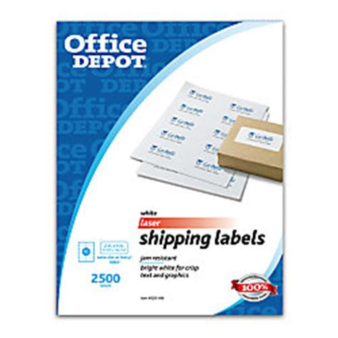 Office Depot Shipping by Office Depot Brand White Laser Shipping Labels 2 X 4 Box