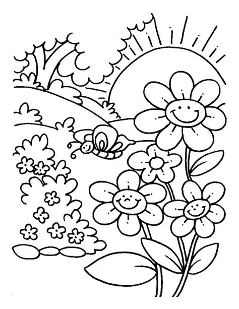 spring sun coloring page printable spring coloring pages az coloring pages