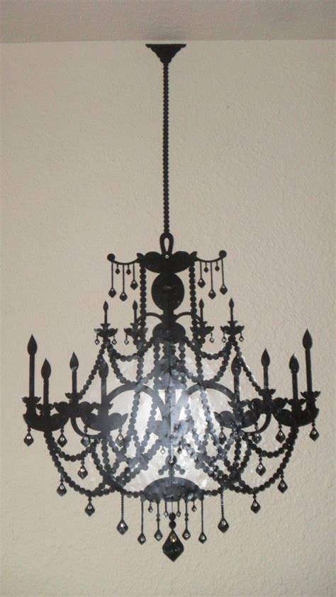 Chandelier Wall Stencil Chandelier Stencil Decal With Rhinestones Dresses Up A Room Wall It S Removeable From