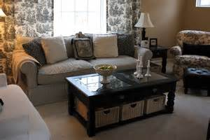 table in front of sofa decorating inspiration black white hooked on houses