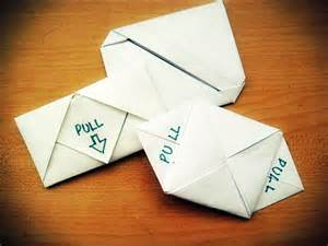 Letter Folding Origami - 3 different styles of letter folding