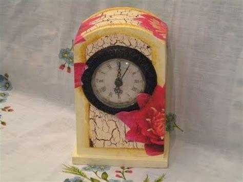tutorial decoupage orologio tutorial decoupage one stroke technique clock decorating