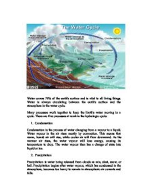 Water Cycle Essay by The Water Cycle Gcse Science Marked By Teachers