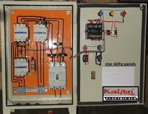 star delta motor control panel  rs  nos
