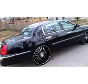 Lincoln TownCar  Triple Black On 26s YouTube