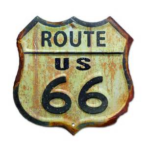 Route 66 Home Decor by Rusty Route 66 Highway Sign Vintage Style Route 66 Sign