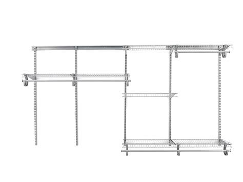 closet shelving system satin chrome 5 to 8