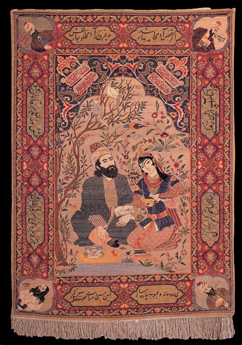 rugs and carpets antique tabriz pictorial carpet quot omar khayyam and his lover quot state museum of azerbaijan carpet