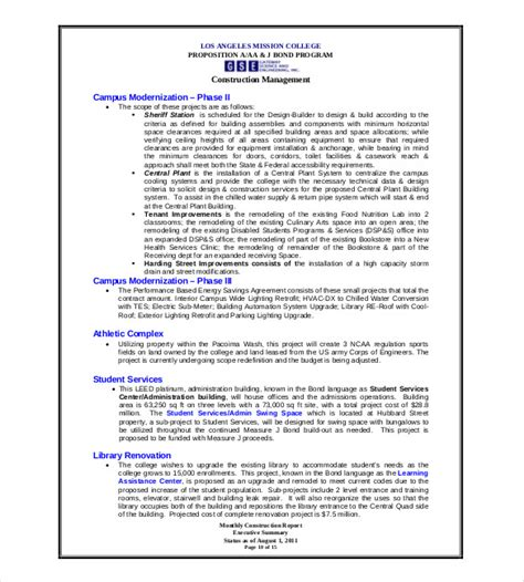 monthly program report template 19 monthly report template free sle exle format