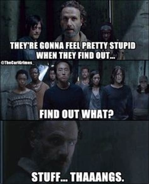 Walking Dead Stuff And Things Meme - quot stuff thangs quot about the walking dead on pinterest