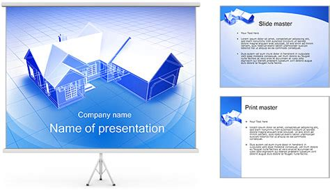 powerpoint design house 3d house plan powerpoint template backgrounds id
