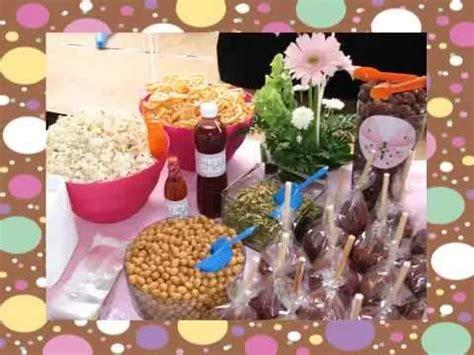 mesa de dulces y snacks (candy bar) d tallitos.com youtube