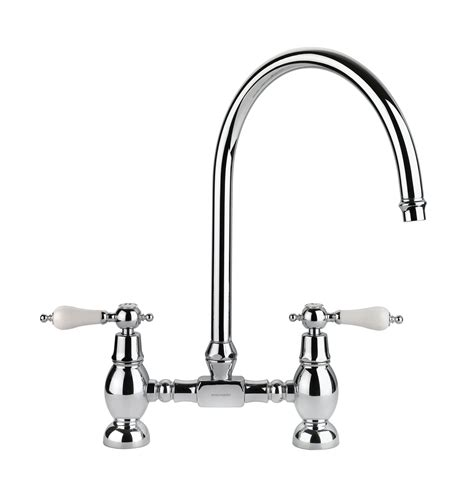 rangemaster belfast traditional bridge sink mixer tap chrome