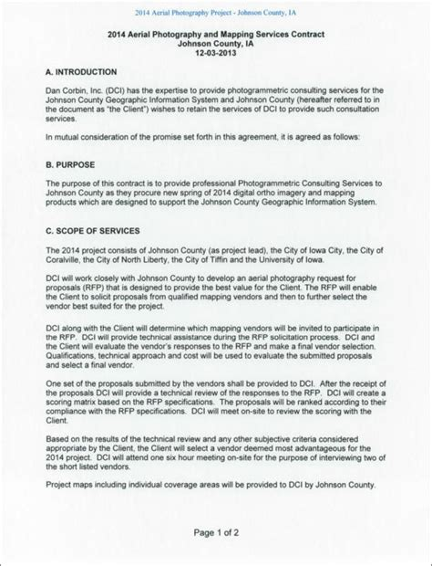 Aerial Photography Contract Template 19 Photography Contract Templates Sle Templates