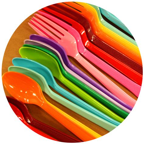 Coloured Kitchen Knives Set rainbow extra heavy weight plastic cutlery set of 12