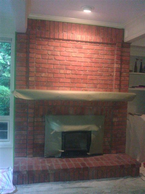 Change Color Of Brick Fireplace by 42 Best Images About Fireplace Ideas On