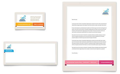 Business Card Template Free Word For Cleaners by Carpet Cleaning Business Card Letterhead Template Word