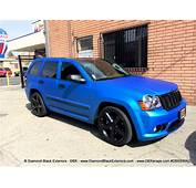 Jeep Grand Cherokee SRT8 Wrapped In Matte Blue Aluminum By