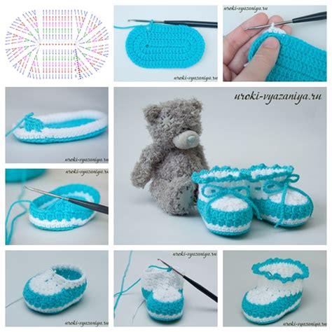 diy booties wonderful diy crochet baby booties