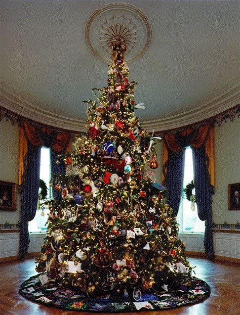 white house christmas tree ornaments take a tour of 11 white house christmas trees mnn mother nature network