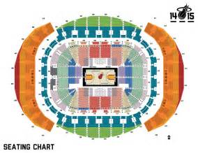 American Airlines Arena Floor Plan seating chart miami heat