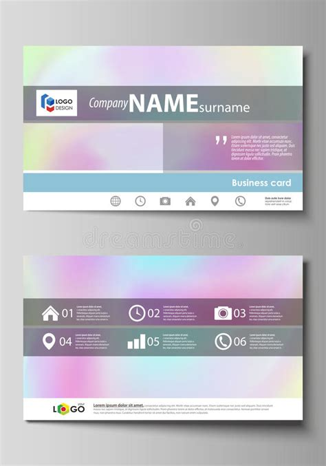 pastel color card templates business card templates easy editable layout abstract