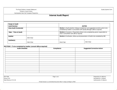 Sle Internal Audit Report Template Portablegasgrillweber Com Code Audit Report Template