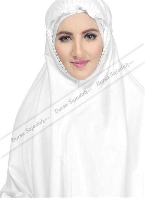 jual kerudung jilbab instan syari motif polos putih malaya sykava bursa sajadah