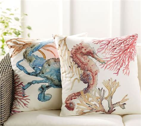 pottery barn bed pillows sea life indoor outdoor pillow pottery barn
