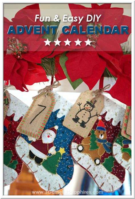 easy to make advent calendar for 3 garnets 2 sapphires easy diy advent calendar to make