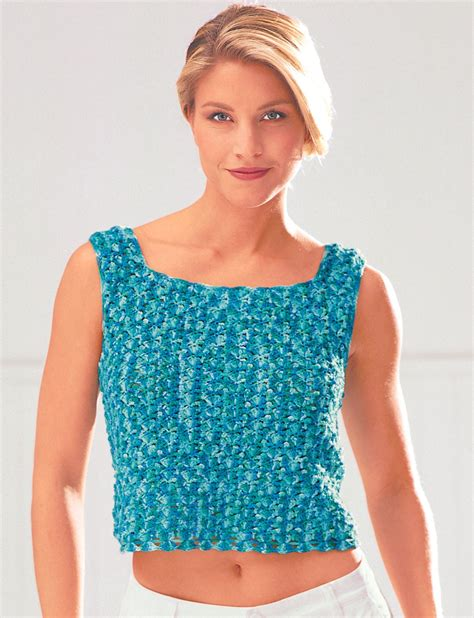 pattern crochet tank top easy tank top pattern yarnspirations