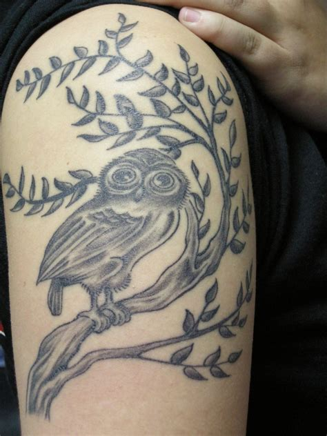 tattoo designs upper arm arm owl design tattooshunt